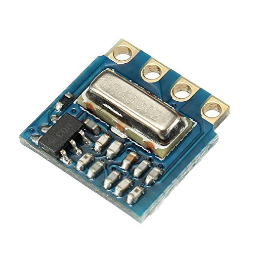ILS - 20 Pieces H34A 433Mhz Mini RF Wireless Transmitter Module Minimum Remote Control Module Ask 2.6-12V 12v Wireless Remote