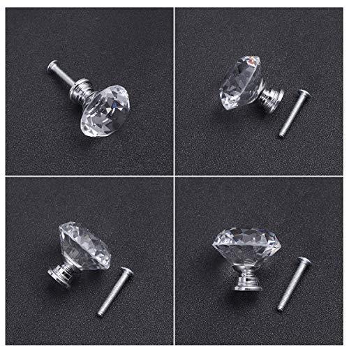 51wdnv GBtL - OUNONA 10x cristal de diamante Moebelknopf Moebelknoepfe Brazos de muebles Moebelknauf manija del gabinete del mango, de 30 mm