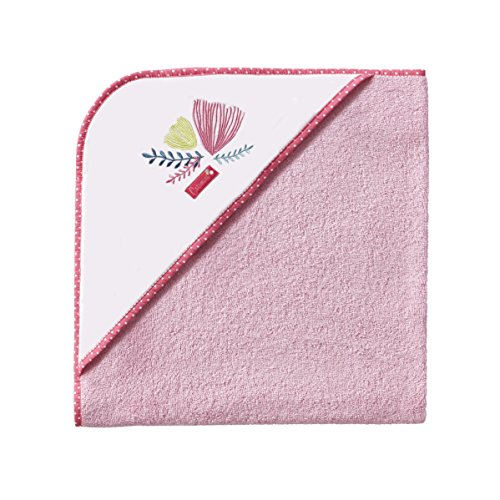 Catimini 3359105017626Garten Vorstellungskraft Kapuzenbadetuch für Baumwolle Rosa 75x 80cm