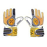 Best Football Gloves For Receivers - Breathable Adults Football Receiver Gloves, (Orange/Black, M) Review