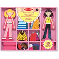 Melissa & Doug Abby and Emma Magnetic Wooden Dress-Up Dolls
