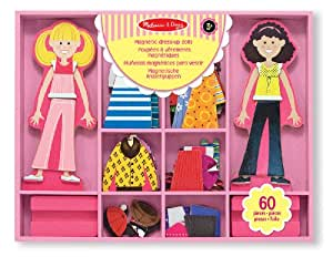 Melissa & Doug 14940 Abby and Emma Magnetic Wooden Dress-Up Dolls