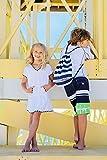 Snapper Rock Mädchen mit Kapuze Frotteekleid, Weiß, 152-158cm/11-12 Jahre