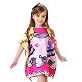 VSTON Kids Beach Poncho Towel Swimming Bath Toalla con capucha Albornoces...