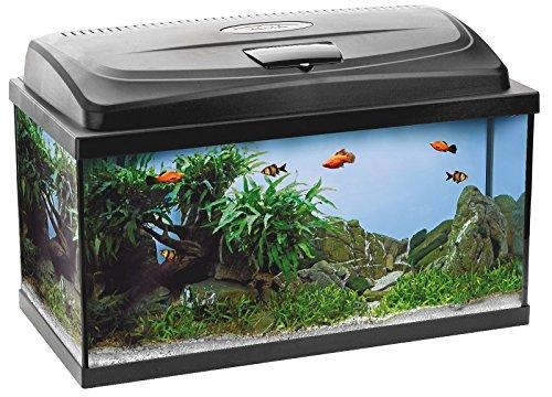 Aquael Aquarium Set Classic LT inkl. Abdeckung, Filter, Heizer, LED Beleuchtung (60x30x30 rechteckig)