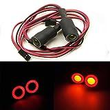 AXspeed 13mm Engel Eyes & Demon Eyes Light Scheinwerfer Rücklicht für 1/10 RC Auto (Rot + Gelb)