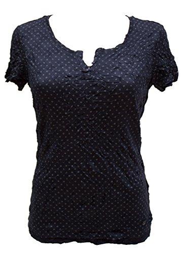 TOM TAILOR - T-Shirt - Blaser - Col Ras Du Cou - Manches Courtes Femme - bleu - XX-Large