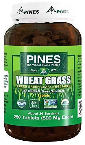 Pines - schede di erba di grano 500 mg. - 250 compresse