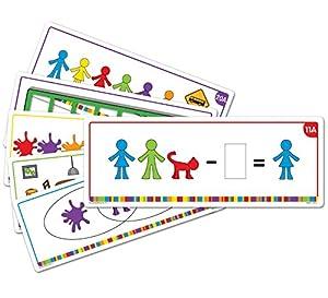 Learning Resources- Tarjetas de Actividades para Las Figuras de la Familia All About, Color (LSP3377-UK)