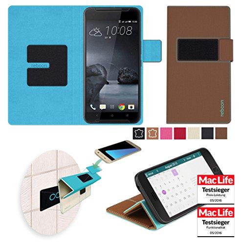 reboon Hülle für HTC One X9 Tasche Cover Case Bumper | Braun | Testsieger