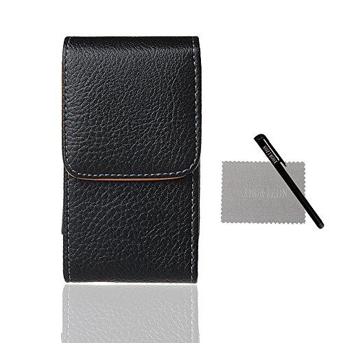 iPhone 4 Tasche, xhorizon™MW8 Vertikal Leder Magnetverschluss Hülle TaillenBeutelHolster Pouch mit Gürtelclip für Apple iPhone 4 4S 3GS