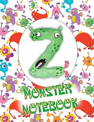 Z Monster Notebook: Kids Monogrammed Journal and Doodle Book