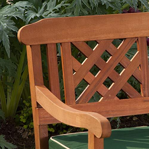 Robert Dyas 3 Seater Wooden Garden Fence Bench, FSC Approved Outdoor Furniture