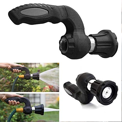 Blaster-spray (funnyfeng High Pressure Irrigation Water Sprayer, Garden Hose Spray Nozzle, Car Wash Kit Foam Gun, Interface 5 Mode, Adjustable Hose Spray Hooter, for Car Washing, Plants Watering and Pets Showering)