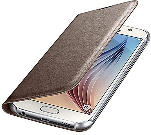 Vivo Y21/Y21L High Quality with Perfect Fit Leather Flip Cover - Gold