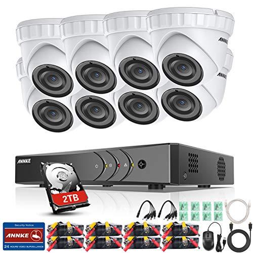 ANNKE 8CH 3MP DVR Kit videovigilancia Sistema 8 Cámaras
