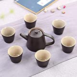 GBCJ Teaware New 7 Teaware Set Europäisches Restaurierungs-Achat Teegeschirr Customizeduuu, Achat schwarz