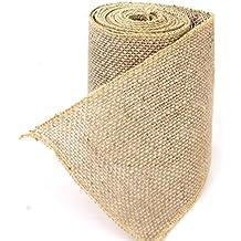 Zedtom 1rollo de cinta de arpillera de yute para decoración de bodas y fiestas Artesanía y bricolaje