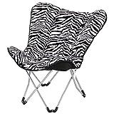 CAOYU Balkon Klappstuhl, Schmetterling Stuhl, Freizeit Stuhl, Sofa Stuhl, (Farbe : Zebra)