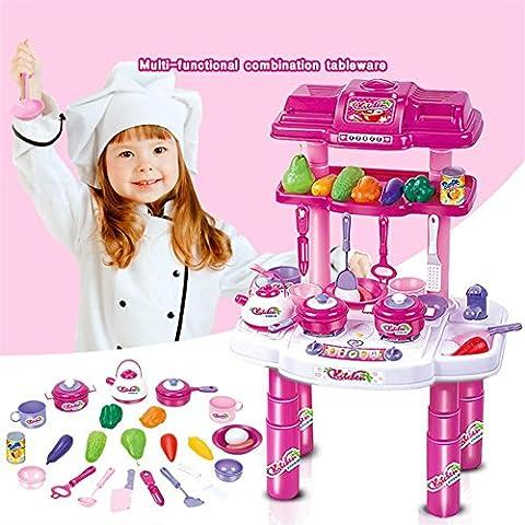 WGE Simulation Kinder Küche Spielzeug Set Baby Puzzle Geschirr Küche Spielzeug
