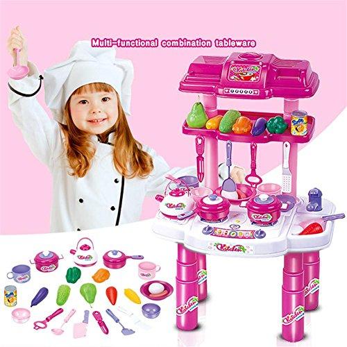 Preisvergleich Produktbild WGE Simulation Kinder Küche Spielzeug Set Baby Puzzle Geschirr Küche Spielzeug
