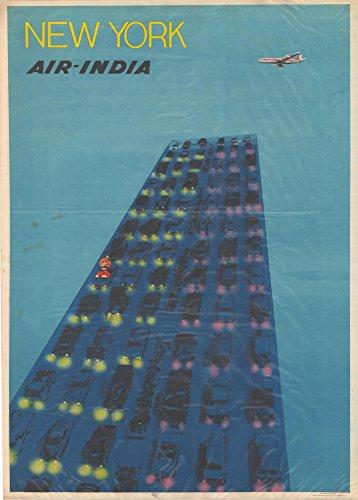 vintage-travel-america-for-new-york-con-riproduzione-air-india-250-g-mq-formato-a3-poster