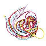 D DOLITY 6 Stü Multi Farbe Braid Strang Geflochtenen Faden Für Haar Pferdeschwanz Armband Fußkettchen mit Dickem Gummi 100 cm