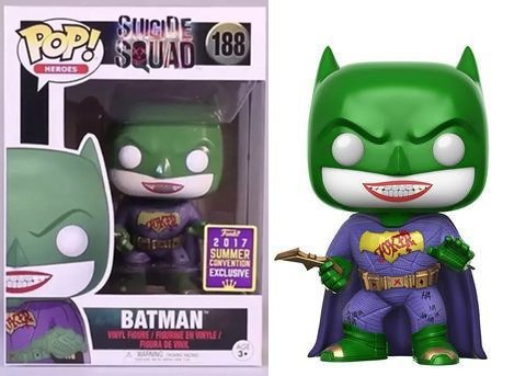 Figura Pop DC Comics Suicide Squad Joker Batman SDCC 2017 Exclusive