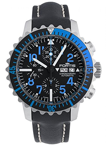 Fortis Reloj los Hombres Marinemaster Blue Cronógrafo Automática 671.15.45 L 01