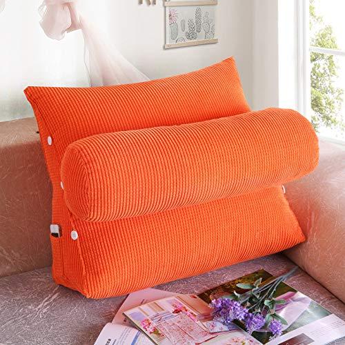 Triangolo schienale letto grande cuscino letto cuscino divano vita ufficio vita arancione 45 * 40 * 22