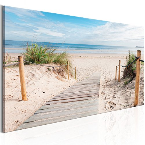 Meer Landschaften (murando - Bilder Strand 150x50 cm Vlies Leinwandbild 1 TLG Kunstdruck modern Wandbilder XXL Wanddekoration Design Wand Bild - Landschaft Meer c-B-0158-b-a)