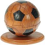 Fußball 3d holzpuzzle + Kostenloser schlüsselring : puzzle für erwachsene und kinder : holz spielzeug für Jungen und Mädchen : spiel logisches denken geschenke