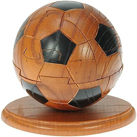 Rompecabezas 3D De Madera Fútbol: diversión para la mente: Madera Artesanal: Top regalo Navidad Regalo Idea! Regalo para Hombres o niños! Gran Regalo de Navidad para Hombres, niños y aficionados Footy!
