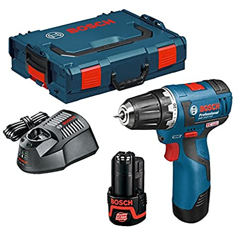 Bosch Professional 06019D4070 GSR 10.8 V-EC Drill Driver with Two