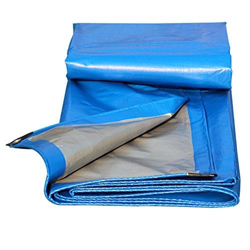 12 Schuppen 10 X (PENGFEI Plane Gewebeplane Wasserdicht Regen Tuch Schatten Sonnenschutz LKW Ladung Schuppen Tuch Isolierung Korrosionsschutz, Blau + Grau, Polyethylen, 12 Größenoptionen ( Farbe : Blau , größe : 6x10M ))