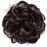 PRETTYSHOP Postizo Coletero Peinado alto, VOLUMINOSO, rizado, Moño descuidado mezcla marrón # 4/30...