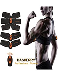Basherry Tónico Muscular Abdominal Body Toning Entrenamiento de Fitness Entrenamiento Abs Fit ABS Peso Fit Muscle Training AB Cinturón Toning Gym Workout Machine Para Hombres y Mujeres Professional EMS Muscle Training Gear ABS Entrenamiento Para Fitness (Abs Fit + Body Fit + Control Remoto Inalámbrico)