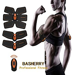 BASHERRY Bauchmuskel Stimulator ABS Trainer, Body Toning Fitness Muskelaufbau Gürtel ABS Fit Gewicht Muskel Toner