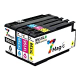 7Magic Cartucho de Tinta Compatible par HP 950XL 951XL (1 Negro,1 Cián,1 Magenta,1 Amarillo) con Más Reciente Chip Compatible con HP OfficeJet Pro 8610 8600 8620 8100 8615 276DW 8630 8660 E-All-In-One Impresora Multifunción