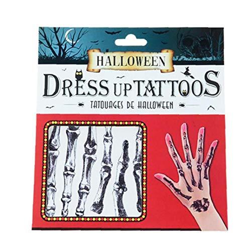 Halloween Tattoo-Aufkleber Wasserdichtes 3D Stich Scars Gefälschte Blutige Wunde Temporary Makeup Props Skelett Für Frauen Mädchen