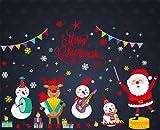 YOGLY Fensteraufkleber Kinderzimmer Fenstersticker Weihnachten Aufkleber Stickers für Glastür Festival Abziehbild Dekoration Wandsticker Weihnachtsbaums Hirsch Weihnachtsmann Schneemann Entfernbare Fenster Schaufenster DIY