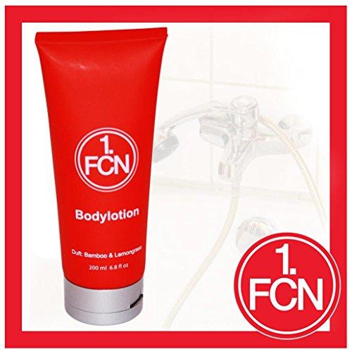 1. FC Nürnberg Luxus Bodylotion / Body Creme - Duft Bamboo & Lemongrass 1. FCN
