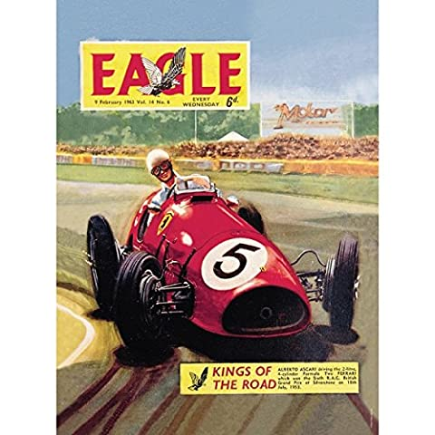 Golden Age of Transport Red Eagle Race Car Large Tin A3 Wall Sign Vintage Retro