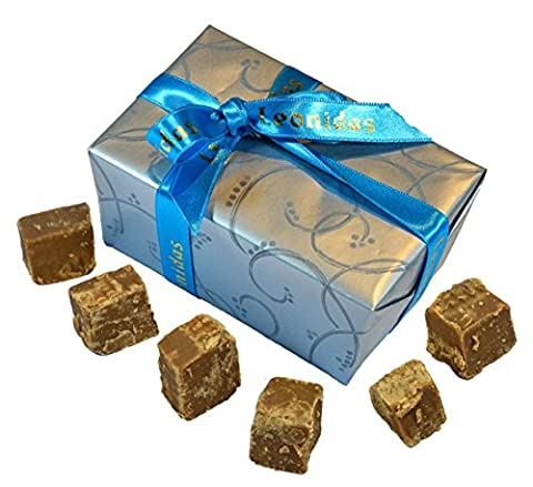 Sea Salted Caramel Fudge, Luxury Handmade Fudge, 10 Large Pieces In Gift Box. Gluten Free.