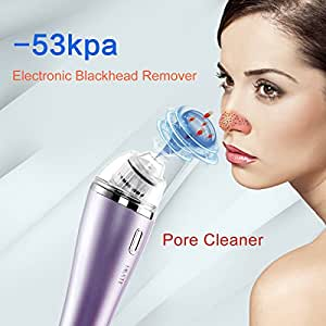 IMATE Strong Electric Suction Facial Pore Cleaner, Nose Blackhead Acne Remover Vacuum–Extraction Tool Skin Care Toning Facial Beauty Salon Instrument Machine