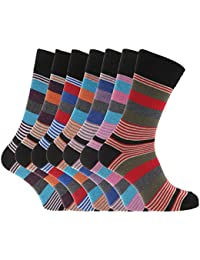 Soho Collection Herren Socken, gestreift, 7er-Pack