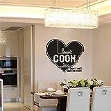 stickers muraux sticker mural Love Cook ne meurt pas de diète pour eux pour la cuisine salle à manger restaurant