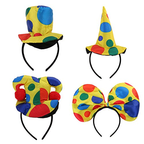 unt Haarreif Clown Hut Stirnband Haarband Zirkus Kopfschmuck für Cosplay Karneval Party Dekor (Zirkus Dekor)