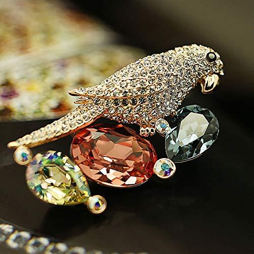 Yrqpq spilla/pappagallo di cristallo/spilla di ragazza ragazza di gioielli sciarpa pin, sconto automatico di 10 yuan!