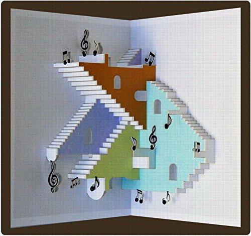Forever Musik Pop Up 3D Karte Grusskarte Geburtstag Gutschein Konzert Unterricht 16x11cm